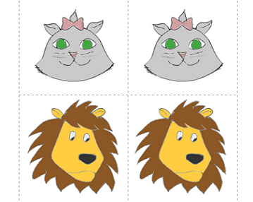 Lion-Kitty Popups: A Free Printable Ear Training Game