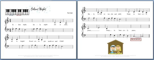 Silent Night Piano Sheet Music For Kids My Fun Piano Studio