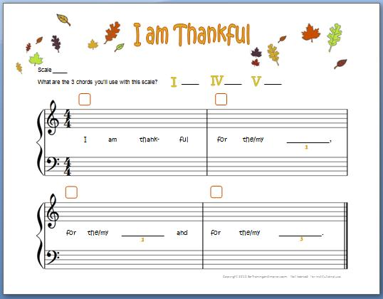 I Am Thankful with Chords