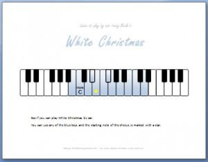 How to Play White Christmas by Ear on the Piano