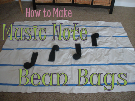 How to Make Music Note Bean Bags- easy and fast!