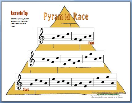 Pyramid Race- A Stem Rules Worksheet