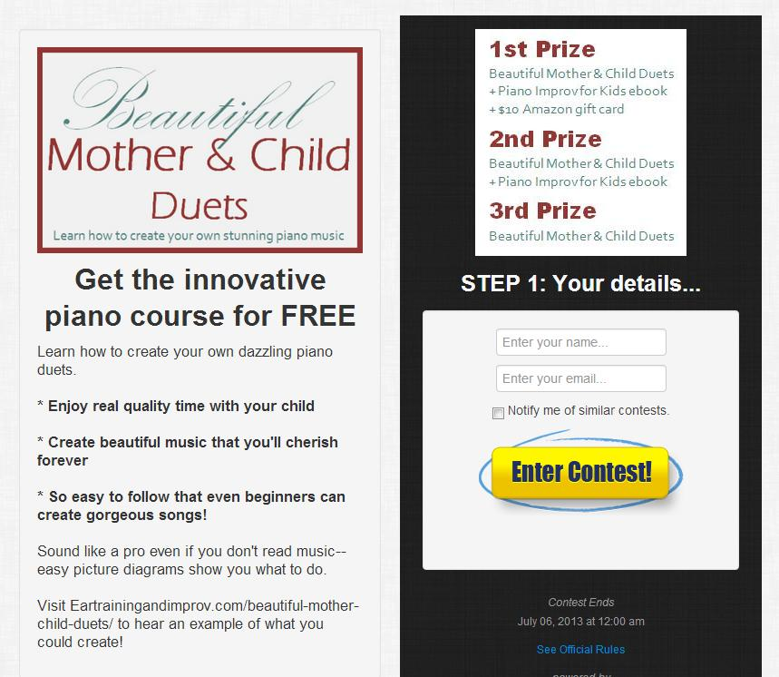 Win Beautiful Mother & Child Duets Course FREE!