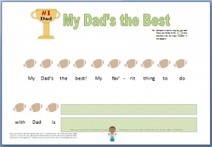 Father's Day Piano Composition Worksheet