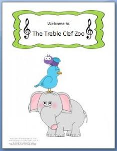 treble clef zoo