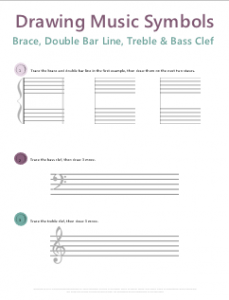 How To Draw A Treble Clef Worksheet: music theory worksheets 50 free printables,