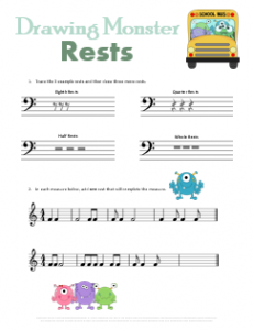 Drawing_Monster_Rests_Music_Symbols_Worksheet