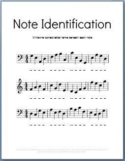 Worksheets Note Naming Worksheets music theory worksheets 50 free printables black and white note identification worksheet