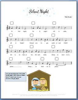 Silent Night Piano Sheet Music For Kids Video Tutorial