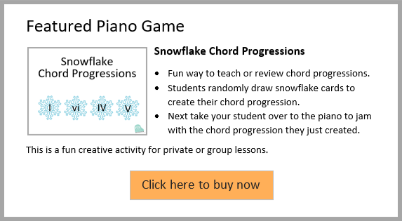 Snowflake Piano Improv Technique for Kids | My Fun Piano Studio