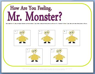 Ear Training Worksheet for Major & Minor Chords: How are You Feeling, Mr. Monster?