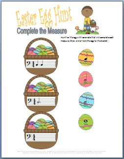 Easter Egg Hunt Rhythm Worksheet