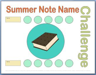 Summer Note Name Challenge
