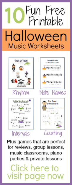 10 free Halloween Music Worksheets