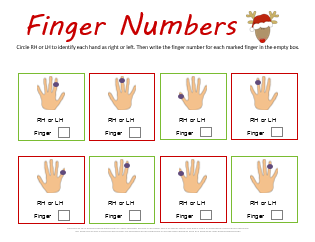 Christmas Finger Numbers Worksheet