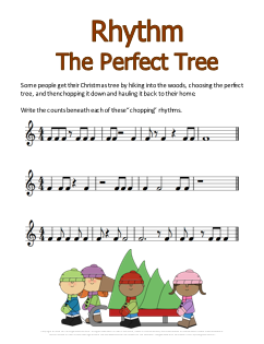 Christmas Music Worksheet Chopping Rhythms