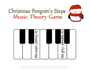 Christmas Penguins Half and Whole Steps Music Theory Game