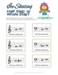 Ice Skating Half Steps and Whole Steps Christmas Theory Printable