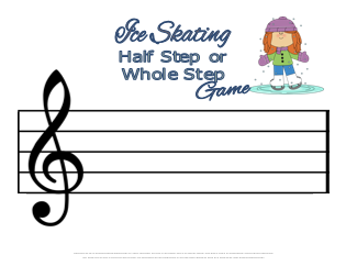 Music Theory Game--Ice Skating Half Steps and Whole Steps