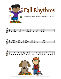 Thanksgiving Rhythm Music Worksheet