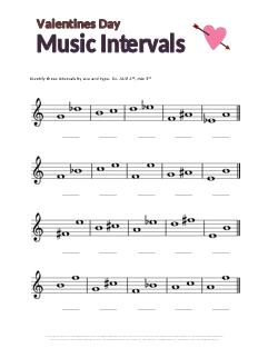Worksheets: Interval Basics