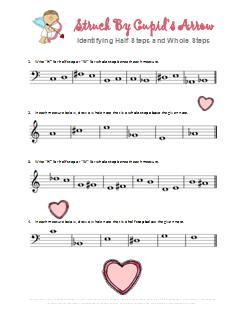 Valentine's Music Worksheet Half and Whole Steps Cupids Arrow