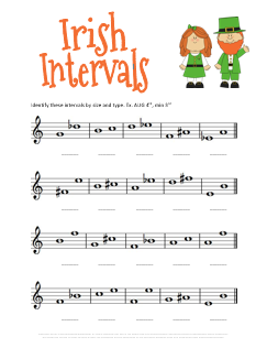 St Patricks Day Music Music Intervals Worksheet