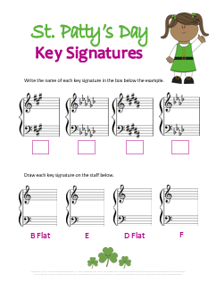 St Pattys Day Key Signature Printable