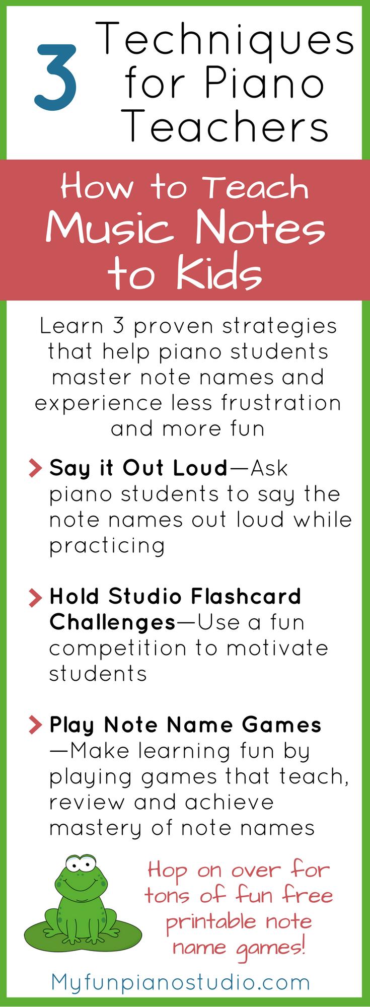 Teaching Music Notes