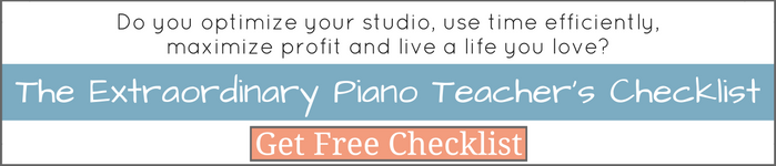 The Extraordinary Piano Teacher's Checklist