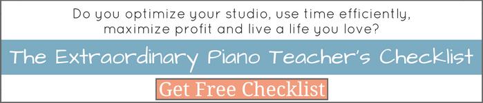 The Extraordinary Piano Teacher's Checklist