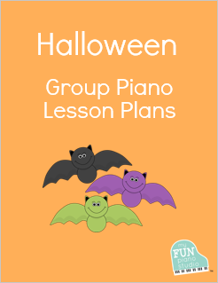 Halloween group piano lesson plans