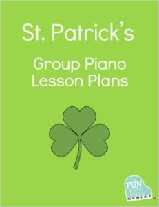 Saint Patrick's group piano lesson plans