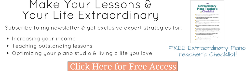 Newsletter with piano lesson ideas
