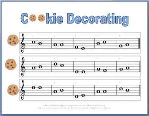Printable ear training game cookie decorating
