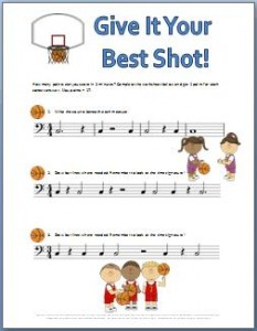 Best shot rhythm worksheet