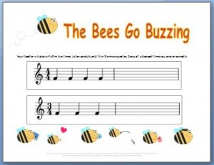 Ear Training Worksheets Bees Go Buzzing