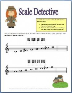 Worksheets: Major Scales