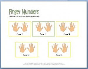 Piano worksheets to learn finger numbers