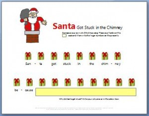 Easy Christmas piano sheet music: Santa Got Stuck in the Chimney