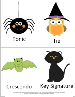 Music Vocabulary Game for Halloween