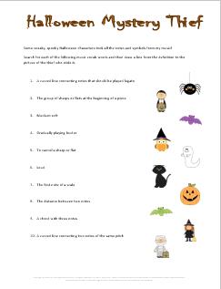 Halloween Music Theory Worksheets - 20 Fun Free Printables