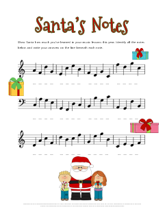 Christmas Music Notes.Christmas Music Theory Worksheets 20 Free Printables