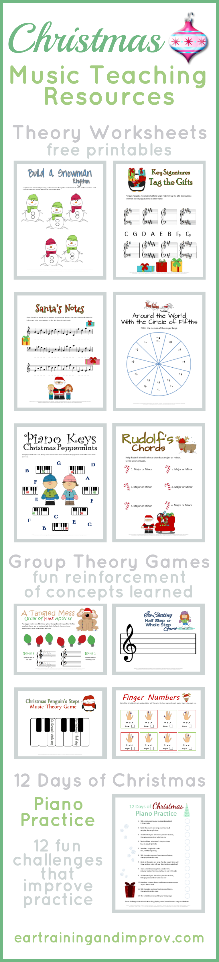 image relating to Printable Christmas Games With Answers known as Xmas Audio Basic principle Worksheets - 20+ Cost-free Printables