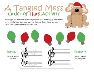 Christmas Order of Flats Worksheet