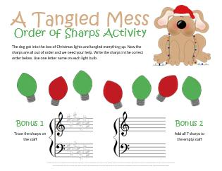 Christmas Order of Sharps Worksheet