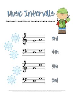 Music Intervals Worksheet for Christmas