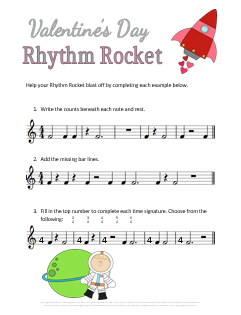 Valentines Day Music Worksheet_Rhythm Rocket