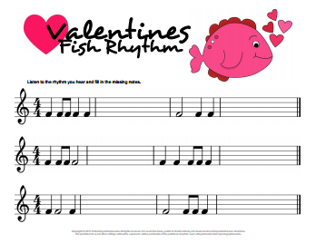 Valentines Fish Rhythms Ear Training