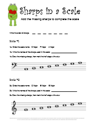 Valentines Music Theory Worksheet Sharps in a Scale
